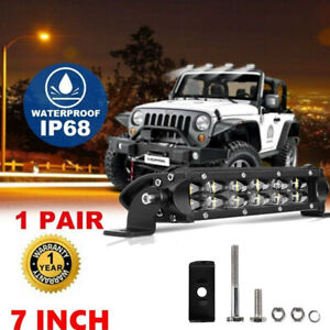 Autofeel 7inch 896W LED Light Bar Flood Spot Combo Offroad Truck SUV 4WD ATV 8""