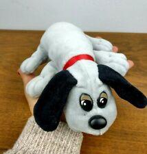 Pound Puppies Vintage 80's Grey Dog w/ Black Ears Nostalgic Stuffed Animal Tonka