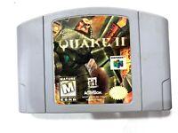 Quake 2 II Nintendo 64 N64 Game Tested + Working & Authentic!