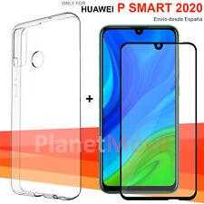 Huawei P Smart 2020 Protector cristal templado completo 3d + funda