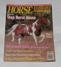 HORSE ILLUSTRATED NOVEMBER 1992 - HOW TO STOP HORSE ABUSE/THE FEMININE TOUCH