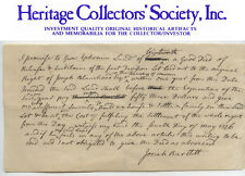 SIGNER OF THE DECLARATION OF INDEPENDENCE - 1776 JOSIAH BARTLETT, autograph doc