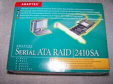 Adaptec 2410SA 4-port PCI SATA RAID Controller Card in working order