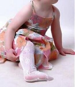 Baby Girls Christening Party Occasion Lace Tights Size Newborn to 13 years