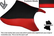 BRIGHT RED & BLACK CUSTOM FITS APRILIA SL 1000 FALCO 99-05 FRONT SEAT COVER