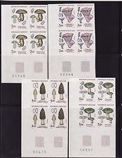 timbre France non dentelée  série 4 champignons 1987  num: 2488/2491  cdfg  x 4