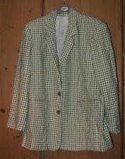 Blazer checked size 14-16 blue green white jacket GOOD quality blazer