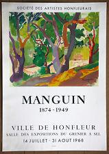 Henri Manguin Ville De Honfleur  Vintage Original Mourlot Stone Lithograph 1968