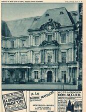 BLOIS DISTILLEIRE FRAISE OR CHISSAY MER HOTEL BON ACCEUIL NAVEIL  PUB 1932 AD