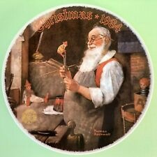 Norman Rockwell 1984 Christmas Plate Santa In His Workshop Limited Edition Usa