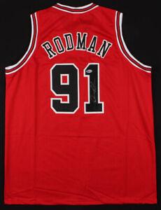 Dennis Rodman Signed Chicago Bulls Basketball Jersey (Beckett COA) NBA Autograph