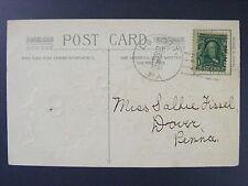 La Bott Pennsylvania PA 1907 Type 2/1 Doane Cancel DPO 1890-1911 Postcard