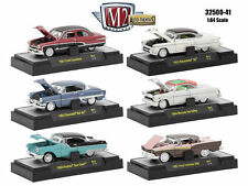 M2 MACHINES 1:64 AUTO-THENTICS RELEASE 41 IN ACRYLIC CASES 6 PIECE CAR 32500-41