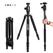 Portable Pro Aluminum Travel Camera Tripod Monopod Ball Head for Digital Camera