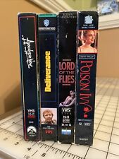 Vhs Suspense Lot- Apocalypse Now Deliverance Lord Of The Flies Poison Ivy
