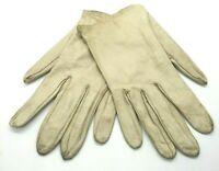 Vintage Grandoe Gloves Size 7 1/2 Ivory washable leather