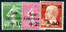 FRANKREICH 1929 244-246 * SATZ CAISSE AMORTISSMENT (I2257