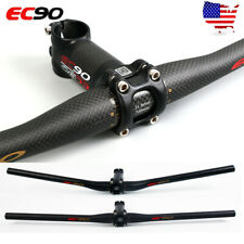EC90 MTB Bike Handlebar Bar Stem Carbon Fiber 31.8mm 6°Ultralight Flat/Riser Bar