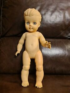 Vintage Pedigree Soft Rubber Doll with Ponytail 16 inches tall.