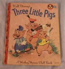 WALT DISNEY'S THREE LITTLE PIGS ADAPTED BY MILT BANTA 1948 A LITTLE GOLDEN BOOK
