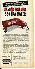 1968 small Print Ad of Long 680 Tractor Hay Baler