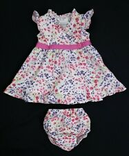 Baby Girls Clothes JO JO MAMAN Floral Cotton Dress & Knickers Set 0-3 Months VGC