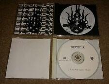 Lot of 2 STATIC X Black And White /Bled for Days radio station dj CD PROMO Wayne