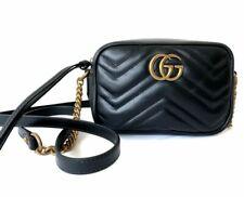 Gucci 20FW Women's Leather Marmont Mini Shoulder Bag - Black