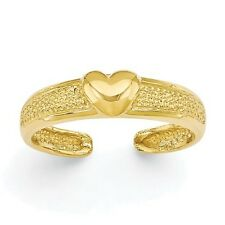 Toe Ring-14Kt Yellow Gold -HEART