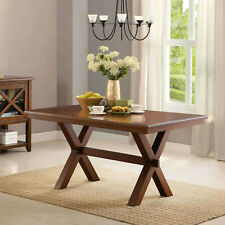 Farmhouse Dining Room Table Sturdy Wood Kitchen Seats 6 Person Office Desk