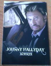 JOHNNY HALLYDAY Always CD PROMO 1 Titre dans Livret Cartonné 4 Pages