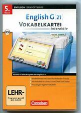 Cornelsen Lernsoftware Englisch G21 Vokabelkartei
