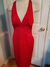 bebe red cut out midi  dress m              #602