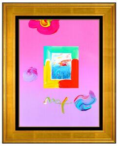 Peter Max RARE Pegasus Flying Original Acrylic Painting Cosmic Pop Signed Art
