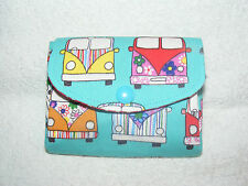 Camper van Fabric 3 Compartments Handmade Coin Purse