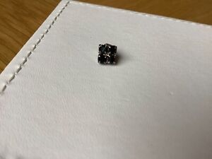 Black Small Crystal Stones Single Stud Earring
