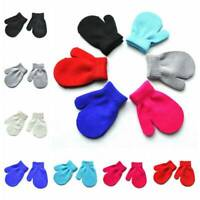 Childrens Mittens Gloves 7 Colours Winter Warm Girls Boys Toddler Wool Knitted