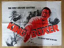 KING BOXER (1972) - original UK quad film/movie poster,kung-fu,martial arts,rare