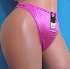VIOLA'S Pink Satin Shiny wetlook stretch thong sissy bikini panties S M L XL