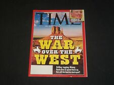 2001 JULY 16 TIME MAGAZINE - THE WAR OVER THE WEST - T 3102