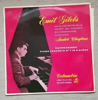 33CX 1323 Rachmaninov Piano Concerto No 3 in D Minor Emil Gilel/Cluytens LP