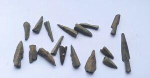 LOT OF 17 ANCIENT ROMAN BRONZE ARROWHEADS 200-400 AD BRITISH FOUND WAR RELIC
