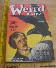 WEIRD TALES September 1939 pulp HP Lovecraft Edgar Allan Poe The Raven Finlay