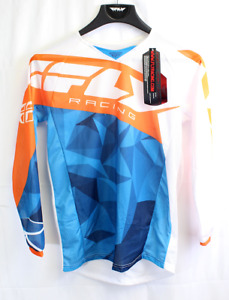 Fly Racing Mesh Jersey Blue/Orange/White Size Youth X-Large PN 371-321YX