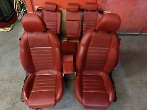 ALFA ROMEO GIULIETTA FULL RED LEATHER INTERIOR SEATS ELECTRICALLY ADJUSTABLE