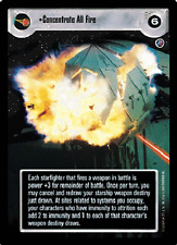 Concentrate All Fire [Near Mint/Mint] DEATH STAR II star wars ccg swccg