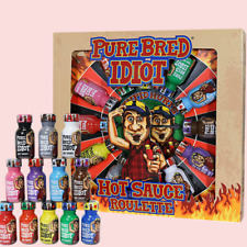 Ass Kickin Purebred Idiot Chilli Extreme Hot Sauce Roulette Crazy Challenge Game