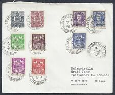 1938 Monaco Cover - Multi-color Franking - Condamine to Vevy Switzerland
