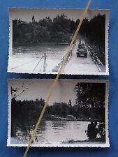 Foto 2x Frankreich 1940 Deutsche Pionierbrücke über die Oise