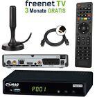 HD Freenet DVB-T2 Receiver mit USB PVR Comag SL65T2 + DVBT2 Antenne HDMI + SCART